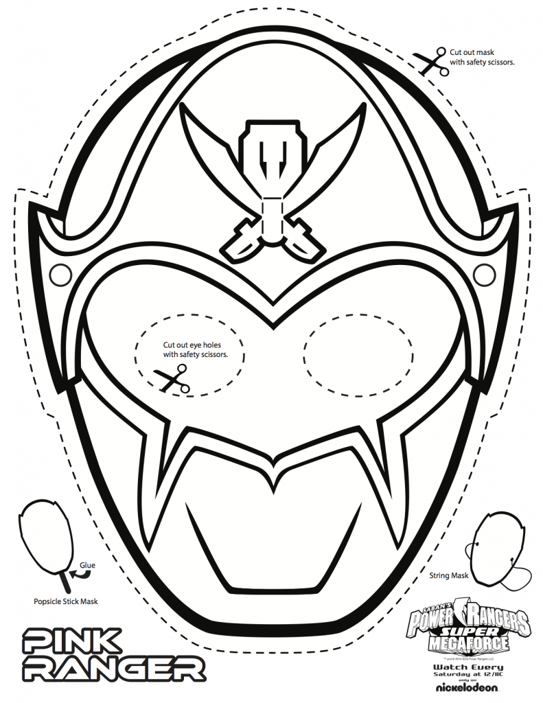 Red Power Ranger Mask Coloring Page - super mega power rangers ...